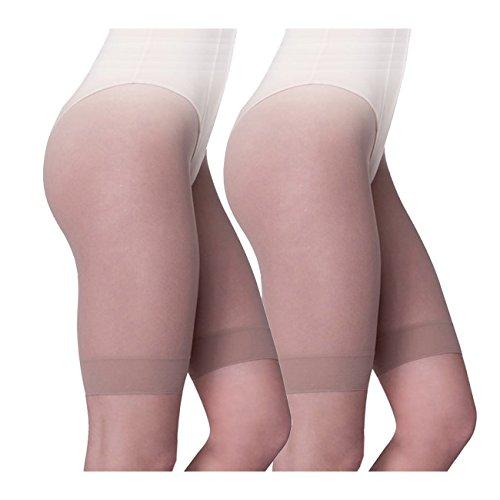 Ergora Kurzstrumpfhose Strumpfpanty comfort 2-Pack 30 Den antibakteriell Perle Gr. 42/44 Strumpf-Panty -