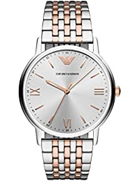8f164093e188 Emporio Armani Herren Analog Quarz Uhr mit Edelstahl Armband AR11093