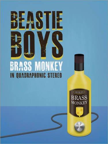Posterlounge Leinwandbild 120 x 160 cm: Beastie Boys Brass Monkey von Studio Maxe - fertiges Wandbild, Bild auf Keilrahmen, Fertigbild auf echter Leinwand, Leinwanddruck