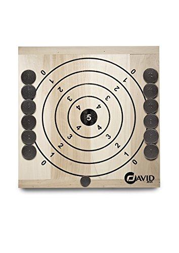 Palets David - Pad468 - Jeu Palets - 2 en 1 - Bois - 50 X 50 Cm