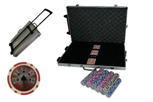 Poker Chipset | 1000'er Trolley Koffer Crom | mit Deluxe Chips | MIX-IT -