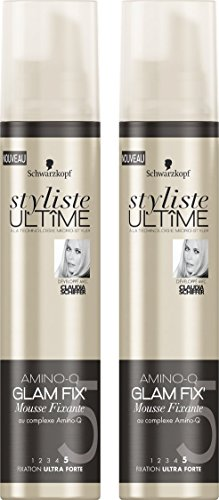 Styliste Ultimes Amino Glam Fix Mousse Fixante 200 ml - Lot de 2