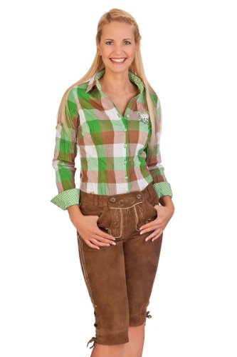 Trachten Damen Kniebundlederhose - ZIRKEL - braun Braun