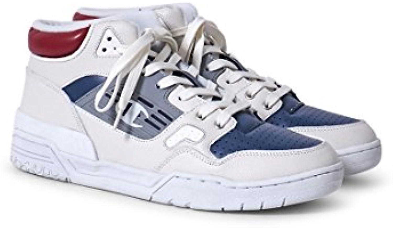 Champion Herren Mid Cut Shoe 3 on 3 Leather Sneaker  Weiß
