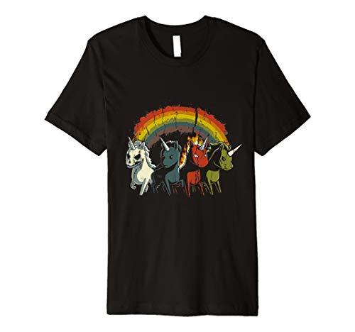 Zombie Einhorn Apokalypse Rainbow T Shirt-Mädchen Frauen Kinder