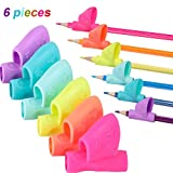 6 Pieces Children Pencil Holder Grips Pen Writing Grip Posture Correction Tool for Pencils