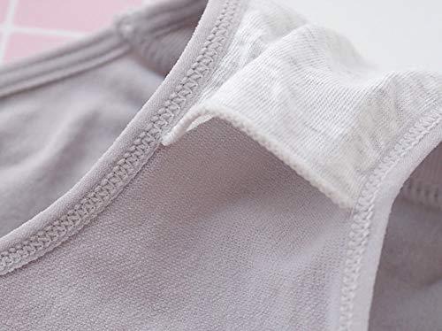 TUDUZ Damen Shapewear Miederslip Miederhose Taillenmieder Bauchweg Unterwäsche Miederpants Unterhose Hochtaille Baumwolle High/Middle Waist Unterhosen (T-Grau) - 4