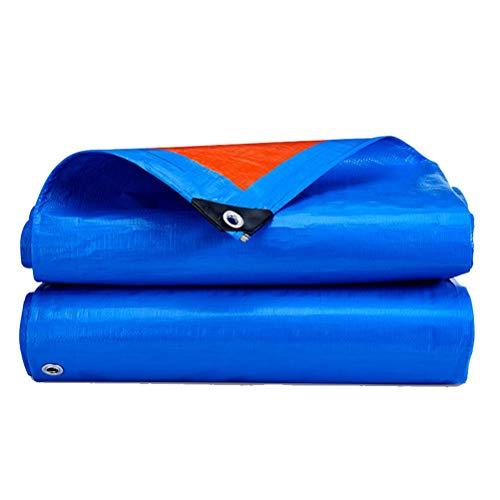 ZHANGGUOHUA Zeltplanen wasserdichte Plane Hochleistungsplastiktuch Außenschattentuch Regendichtes Tuch LKW Leinwand Baldachin Tuch 10x8m (Color : Blue orange, Size : 5x4m)