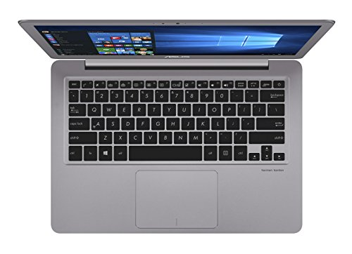 Asus Zenbook UX330UA-FB161T 33,7 cm (13,3 Zoll mattes QHD+) Notebook (Intel Core i7-7500U, Intel HD Graphics, 16GB Arbeitsspeicher, 256GB SSD, Win10) silbergrau -
