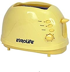 Euroline EL-820 700 W Pop Up Toaster (Yellow)
