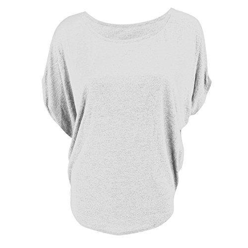 Bella - T-shirt à manches chauve-souris - Femme Blanc