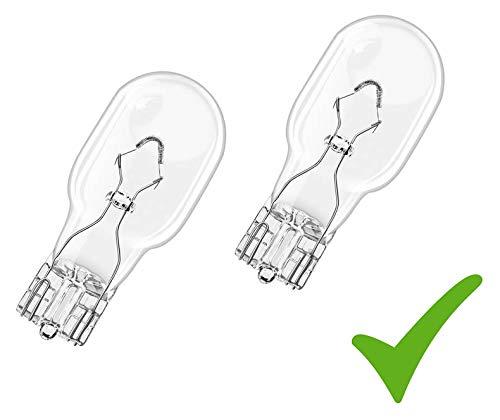 Preisvergleich Produktbild Set! 2 x Auto-Lampe Glühlampe W16W 12V 16W W2, 1x9, 5d Blinklichtlampe Bremslicht Blinklicht Rückfahrlicht