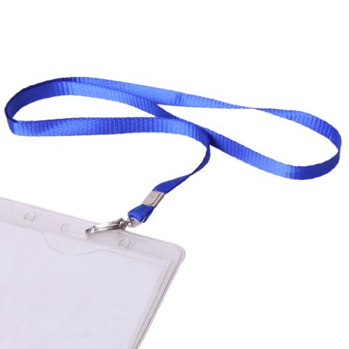 100ID-Karte Lanyard Abzeichen Hals Strap w/Metal Clip–Royal Blau