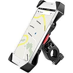 Anti Vibración Soporte de Bicicleta Motocicleta Para Teléfono Celular Universal Prevención de Caídas Manillar de la Bicicleta Soporte Teléfono Móvil Abrazadera de la Horquilla Con Rotación 360 Para 3,5 a 6,3 pulgadas GPS para Teléfonos Inteligentes Otros Dispositivos (Universal)