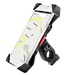 Grefay PB03A Bike Phone Mount Universal Bicycle Motorcycle Cell Phone Holder Smartphone Cradle Clamp 360 Rotatable