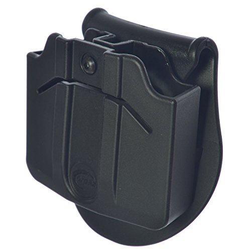 ORPAZ Defense Tactical adjustable 360 rotation, retention Double Magazine Pouch Paddle holster for Glock 17-19-22-23-31-32-34-35-26-25 Glock 17 Magazine Pouch