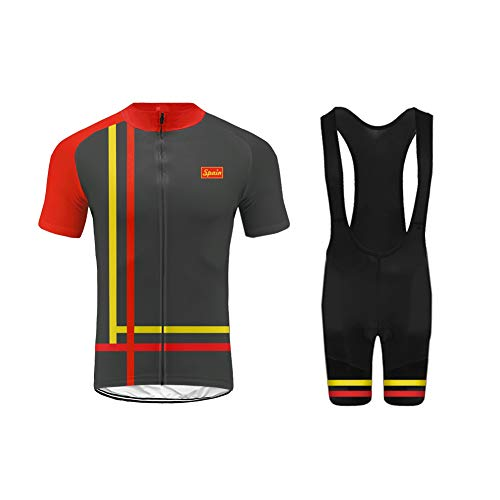 Uglyfrog 2018-2019 Männer Fahrrad Breathable Herren Radtrikot Set, Atmungsaktiv Quick-Dry Kurzarm Radsport-Shirt + Gel Gepolsterte Shorts