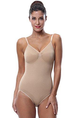 940afee2144d2 Franato Women s Shapewear Waist Shaper Leotard Tummy Slimmer Bodysuits  Adjustables Straps X Nude