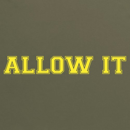 Allow It T-Shirt, Herren Olivgrn