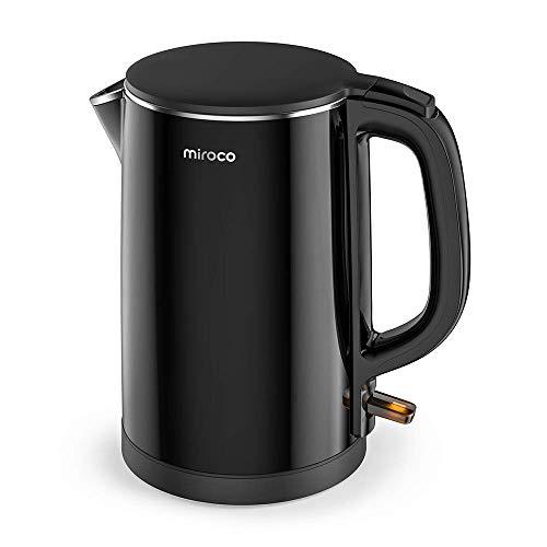 Elektrischer Wasserkessel 1,5L Edelstahl Teekessel 2150W Elektrische Kanne, Trockengehschutz, BPA-Frei, Schwarz ()