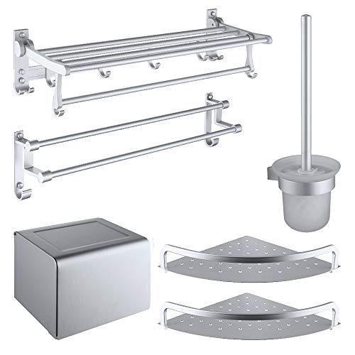 ZXWNB Bad Handtuchhalter Handtuchhalter, Raum Aluminiumlegierung Hängen Fünf Stück Bad Handtuchhalter, Hardware Küche Rack Anhänger -