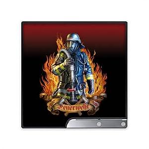 DeinDesign Skin kompatibel mit Sony Playstation 3 Slim CECH-2000-3000 Folie Sticker Feuerwehrmann Feuerwehr Beruf
