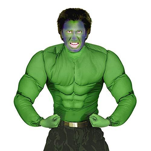 Widmann 12624 Erwachsenes grünes Muskelshirt, XL (Halloween Spiele Online Für Erwachsene)