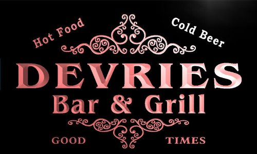 u11303-r-devries-family-name-gift-bar-grill-home-beer-neon-light-sign-enseigne-lumineuse