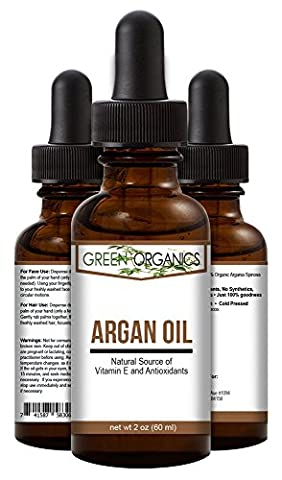 Argan Oil For Hair, Skin, Face, Nails, Cuticles & Beard- Best 100% Pure Moroccan Anti-Aging, Anti-Wrinkle Beauty