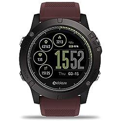 fiveschoice Reloj Inteligente Zeblaze Vibe 3 HR Registro de Actividad de Todo el día 1.22 'IPS Pista de Movimiento Frecuencia cardíaca de Soporte (Rojo)