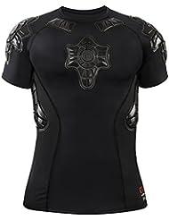 G-Form Pro-X Hombres Compression Camiseta - Negro/Gris, S