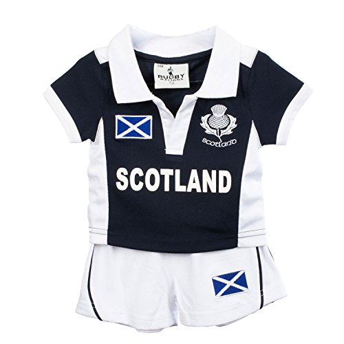 Rugby Nations Kids Cool Collar Sport Kit T-shirt And Shorts