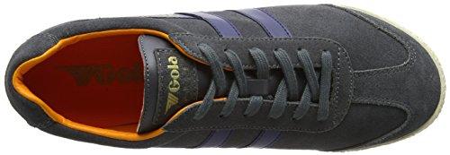 Gola Signore Harrier Suede Sneaker Grau (grafite / Blu Navy / Arancione)