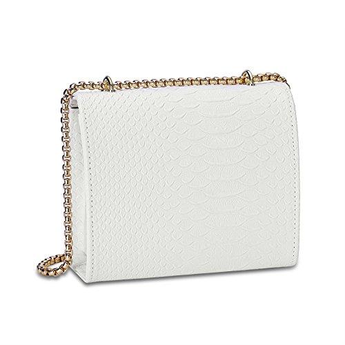 [moda]/Baodan per la borsa spalla solida/[catena] (colori assortiti)-grigio bianco
