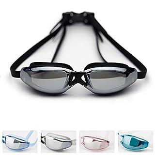 Aolvo Schwimmbrille mit Fall, Professionelle Schwimmbrille Youth Anti Nebel UV-Schutz Kein Auslaufen Super Bequem Bruchsichere Schwimmen Brillen für Männer Frauen Youth Kid Schwarz