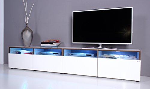TV Lowboard NOOMO # Fronten weiß Hochglanz inkl. RGB-Beleuchtung mit Fernbedienung - 4