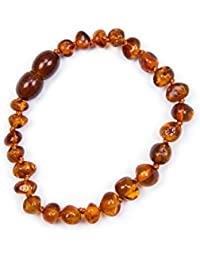 Baby J's 100% Genuine Baltic Amber Anklet Bracelet Cognac sizes 11cm 12cm 13cm 14cm 15cm 16cm 17cm . Money Back Guarantee.