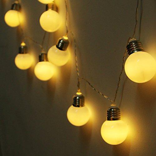 Birne Lichterketten, EONHUAYU 4M 10 LED Solar-Lampen-Schnur Beleuchtet Wasserdicht mit 2 Modi, die...