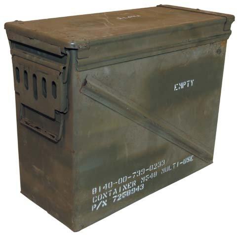 MFH Gebrauchte Größe 7 US Army Munitionskiste 46x21,5x36,5 cm Werkzeugkiste Box Metallkiste GC Versteck Metallbox