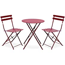 Amazon.fr : table jardin ronde pliante - Rouge