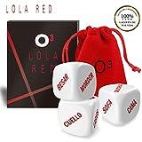O³ Lola Red Dados Pareja Español - Set de 3 | Incluyen E-Book En Español con Más Ideas...