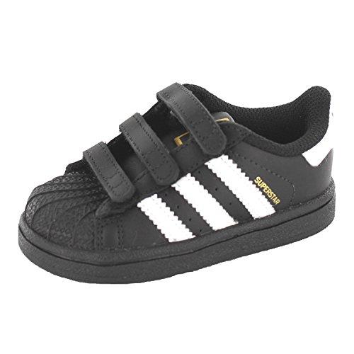 adidas Superstar Foundation CF I, Baskets Basses Unisexe-Bébé Multicolore - Negro / Blanco (Negbas / Ftwbla / Negbas)