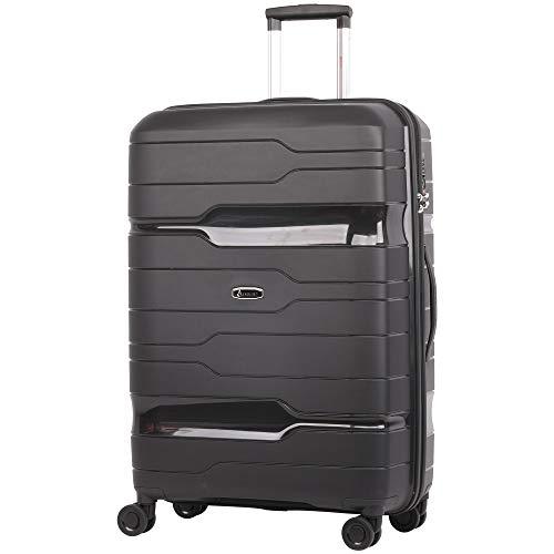"""Aerolite Premium Grand 28"""" avec Valise Dure de 8 Roues et Valise d'enregistrement avec Serrure à Combinaison TSA intégrée à 3 Chiffres et Poche intérieure étanche-Ultra Durable et Lisse (Noir)"""