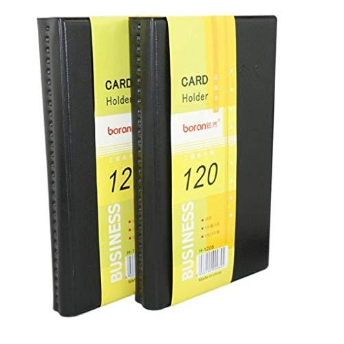 Material: piel sintética y plástico. Color: negro. Dimensiones: 18,5 x 12,5 x 0,8 cm. Dimensión de cada celda: 8,8 x 5,8 cm (3,5 x 2,3 pulgadas). El paquete incluye: 1 tarjetero de piel.