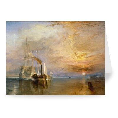 The Fighting Temeraire, 1839 (oil on canvas).. - Grußkarten (2er Packung) - 17,8x12,7 cm - Standardgröße - Packung mit 2 Karten - Art247