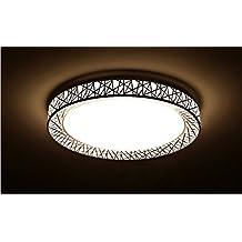 LighSCH Deckenleuchten Das Wohnzimmer Rundschreiben Bügeleisen warme Licht 80cm 72W moderne minimalistische Leuchte Led
