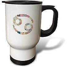 statuear cáncer símbolo Colorful 14-ounce de acero inoxidable taza de viaje
