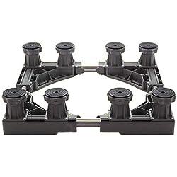 ALXLX Base Mobile Multifonctionnelle - Base De Climatisation Domestique - Porte-Meubles Ajustable - Lave-Linge, Réfrigérateur, Sèche-Linge (Size : 42-65 × 42-65 × 10-14 cm)