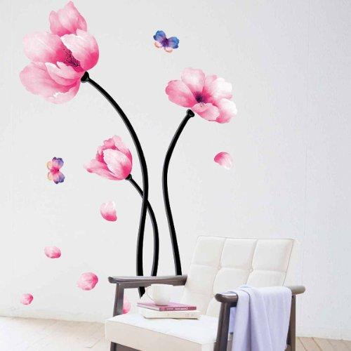 yesurprise-vinilo-decorativo-adhesivo-artstico-pegatina-pared-para-saln-dormitorio-loto-rosado-marip
