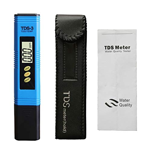 HWENJ PH-Meter (ATC) PH-Tester, TDS-Meter, Schwermetalldetektor Bodendetektor für Aquarien, Schwimmbäder, Hydrokultur, Bier, Lebensmittel (blau) (Ph-bier)